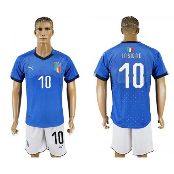 Italy No.10 Insigne Home Football Country Jersey