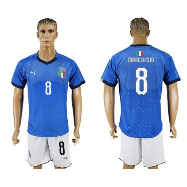 Italy No.8 Marchisio Home Football Country Jersey